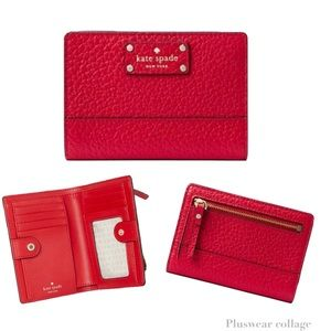 Kate Spade Red Wallet Bay Street Tellie Hot Chili